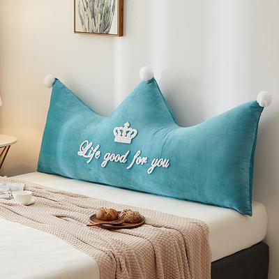 2020新款-繡花靠枕 60*40cm單獨外套 琥珀藍色