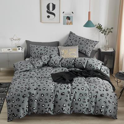 13370全棉简约小清新系列四件套 1.5m(5英尺)床 豹纹