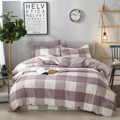 9020水洗棉(无印良品风格)四件套 1.8m(6英尺)床 简爱--紫