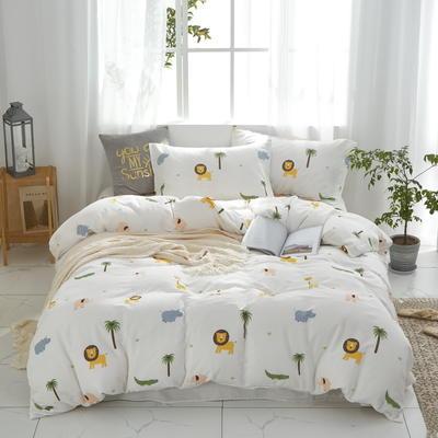 全棉双层纱四件套 1.5m(5英尺)床 童趣