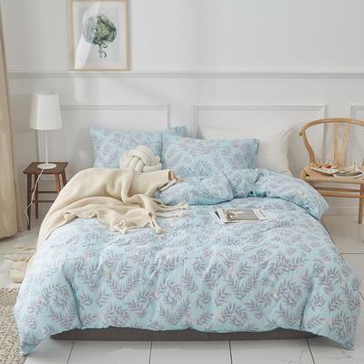 全棉双层纱四件套 1.5m(5英尺)床 春天的果实-绿