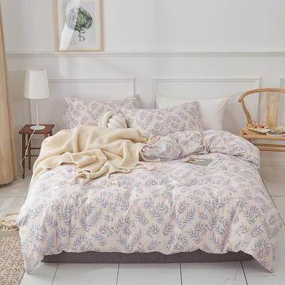 全棉双层纱四件套 1.5m(5英尺)床 春天的果实-玉