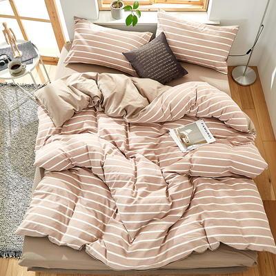 9020水洗棉(无印良品风格)四件套 1.5m(5英尺)床 韵调-咖