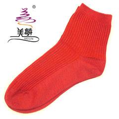 美麟野蚕丝  蚕丝保健袜红色 均码 蚕丝保健袜红色