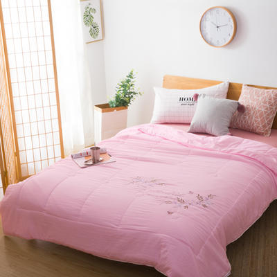 【专版花型,盗版必究】水洗工艺夏被——自然生活 200X230cm 粉色