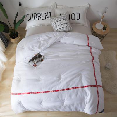斜纹磨毛织带冬被 被子被芯---斯嘉蒂 150x200cm   5斤 斯嘉蒂 白色