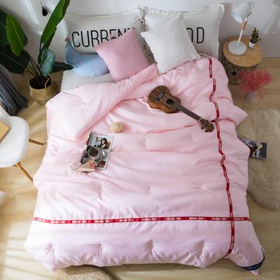 斜纹磨毛织带冬被 被子被芯---斯嘉蒂 150x200cm   5斤 斯嘉蒂 粉色
