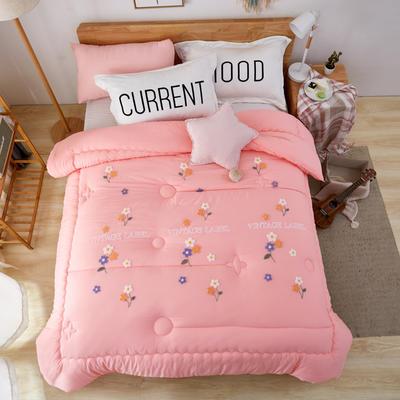 水洗棉毛巾绣冬被  被子被芯---幽幽清香 200X230cm  6.6斤 幽幽清香 玉色