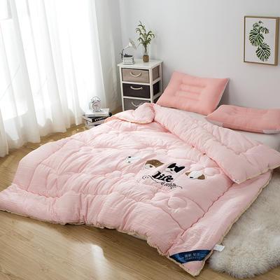 爆款首选—水洗棉毛巾绣冬被  一只狗的使命 200X230cm6.6斤 一只狗的使命、萌萌玉