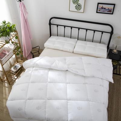 品质走量—全棉羽丝绒冬被   天鹅絮语 150x200cm4斤 全棉羽丝绒白