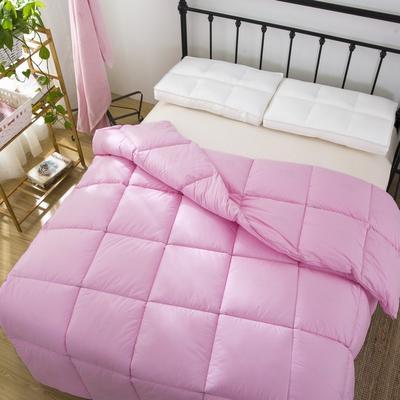 品质走量—全棉羽丝绒冬被   天鹅絮语 150x200cm4斤 全棉羽丝绒粉