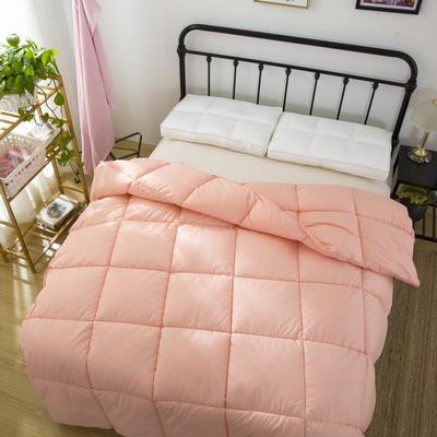品质走量—全棉羽丝绒冬被   天鹅絮语 150x200cm4斤 全棉羽丝绒玉色