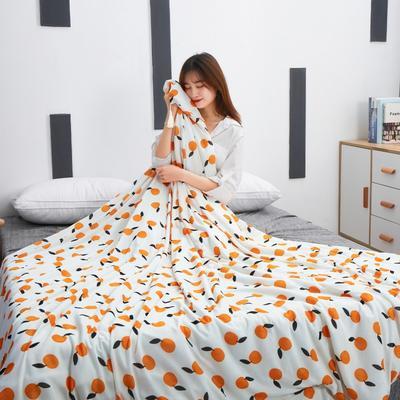 2019新款冰丝夏被 150x200cm 橘子-黄色