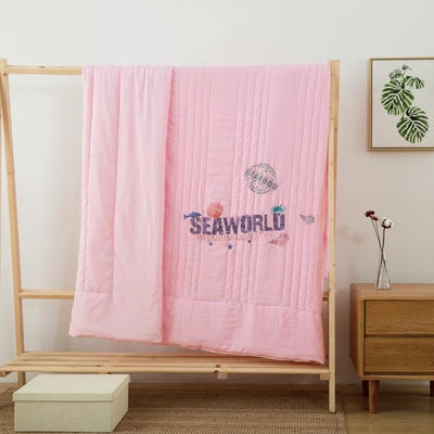 2019新款公主风蕾丝夏被 200X230cm 浪漫地中海 粉色