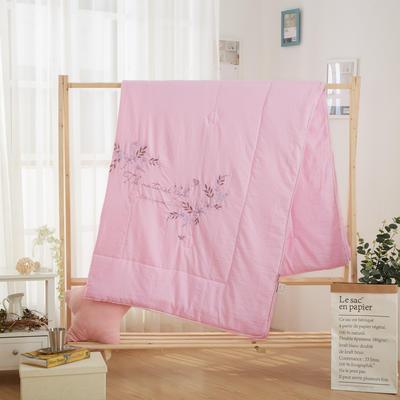 2019新款公主风蕾丝夏被 200X230cm 自然生活 粉色