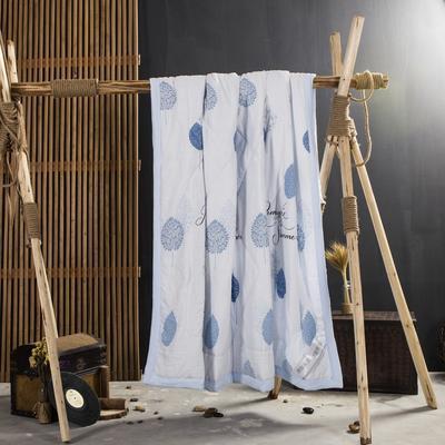 2019新款水洗棉印花夏被 120x150cm 蓝色恋语