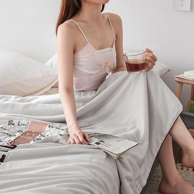 2019新款纯莫代尔法式刺绣夏被 200X230cm 锦瑟年华 灰