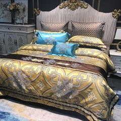 缔缦  2018新品锦缎-锦色奢华 2.0-2.0m床 十件套床单+床盖