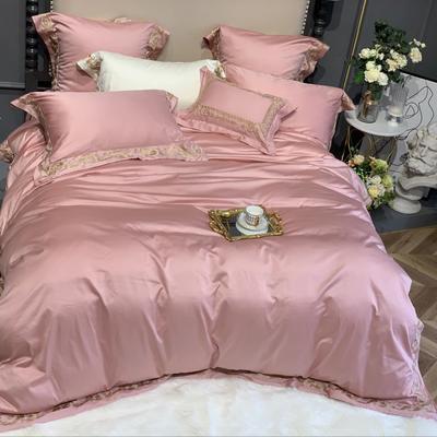 2019新款-100支罗莎四件套 1.5m(5英尺)床 粉