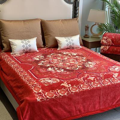 2019新款羊绒毯 200cmx230cm 大红