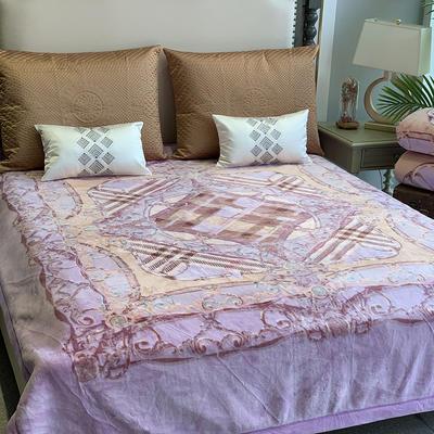 2019新款羊绒毯 200cmx230cm 紫色