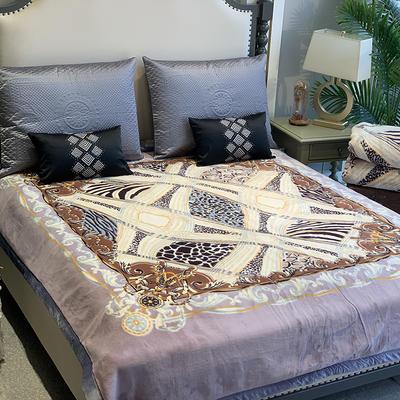 2019新款獭兔毯 200cmx230cm 豹纹