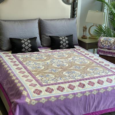 2019新款獭兔毯 200cmx230cm 紫色