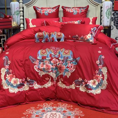 2019新款高端婚庆系列-结婚对象 1.5-1.8m床单款 六件套(床盖款)