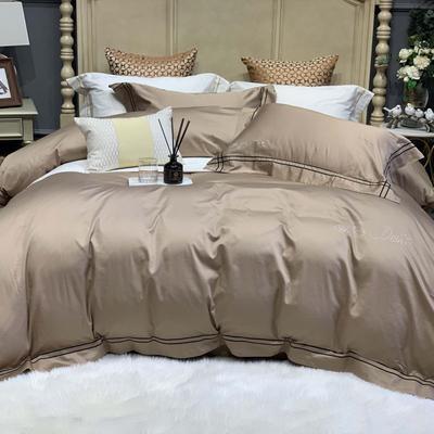 2019新款-高端居家轻奢系列四件套遇见 床单款1.5m(5英尺)床 古铜金