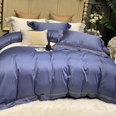 2019新款-高端居家轻奢系列四件套遇见 床单款1.5m(5英尺)床 海松蓝