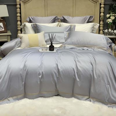 2019新款-高端居家轻奢系列四件套遇见 床单款1.5m(5英尺)床 爵士灰