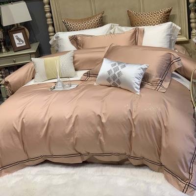 2019新款-高端居家轻奢系列四件套遇见 床单款1.5m(5英尺)床 卡其