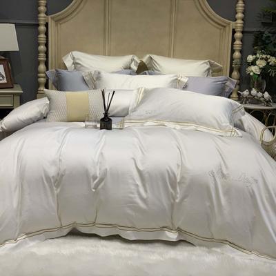 2019新款-高端居家轻奢系列四件套遇见 床单款1.5m(5英尺)床 奶白色