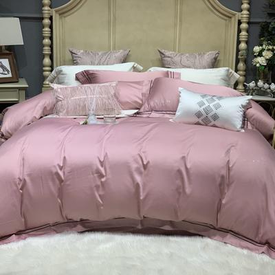 2019新款-高端居家轻奢系列四件套遇见 床单款1.5m(5英尺)床 烟紫粉