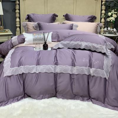 2019新款-高端居家轻奢系列四件套琉璃 床单款1.5m(5英尺)床 琉璃 梦幻紫