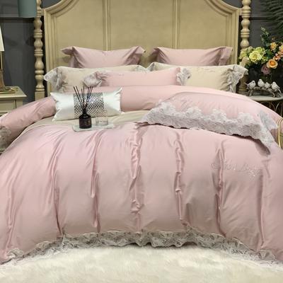 2020新款-More design高端居家轻奢全棉100支四件套 床单款四件套1.5m(5英尺)床 莎桦 裸粉