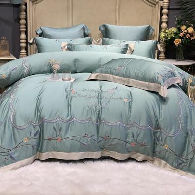 2020新款-天丝系列四件套 床单款四件套1.5m(5英尺)床 初夏 青石绿