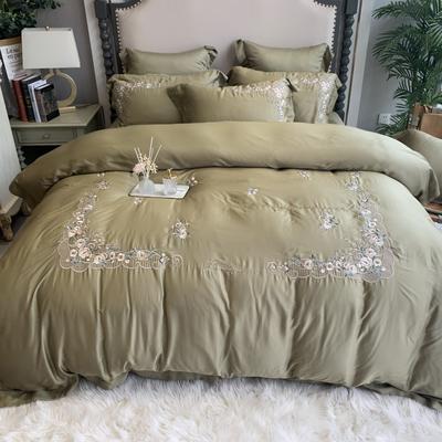2020新款-天丝系列四件套 床单款四件套1.5m(5英尺)床 唯蜜 牛油果绿