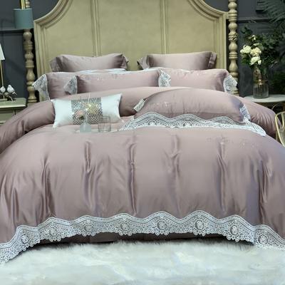 2020新款-天丝系列四件套 床单款四件套1.5m(5英尺)床 伊恋娜裸灰