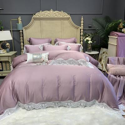2020新款-天丝系列四件套 床单款四件套1.5m(5英尺)床 伊恋娜千黛紫