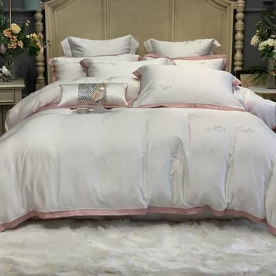 2020新款-春夏简奢系列60支天丝四件套60S天丝 床单款四件套1.5m(5英尺)床 本白