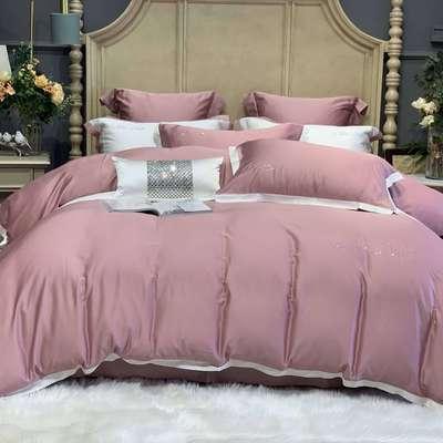 2020新款-春夏简奢系列60支天丝四件套60S天丝 床单款四件套1.5m(5英尺)床 粉色