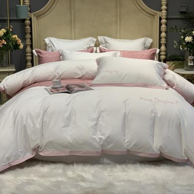 2020新款-高端居家轻奢系列100支年华四件套 床单款四件套1.5m(5英尺)床 本白