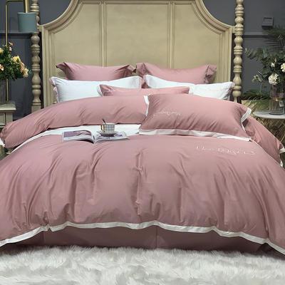 2020新款-高端居家轻奢系列100支年华四件套 床单款四件套1.5m(5英尺)床 粉色