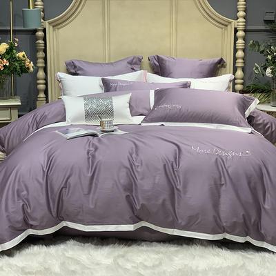 2020新款-高端居家轻奢系列100支年华四件套 床单款四件套1.5m(5英尺)床 梦幻紫