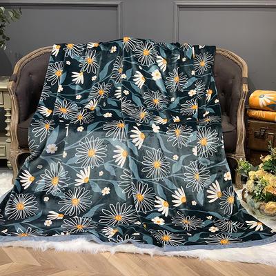 2020新款-AB版复合毛毯 150×200 小雏菊