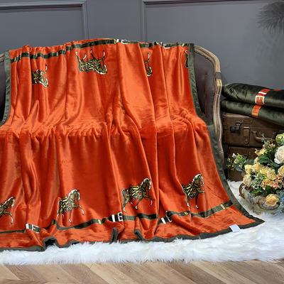 2020新款-AB版复合毛毯 150×200 一梦为马