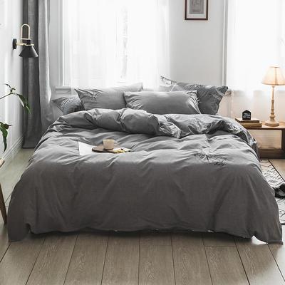 2019新款水洗棉刺绣四件套 1.2m(4英尺)床 枫叶
