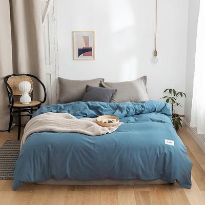 2020年春夏新品-全棉加厚水洗棉单品被套 180x220cm 素宾利蓝