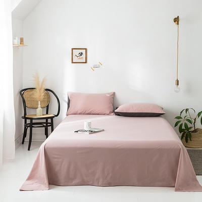 2020年春夏新品-全棉加厚水洗棉单品床单 160cmx230cm 豆沙